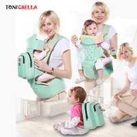 Porta bebé Sling niño infantil ergonómico mochila hip seat recién nacido envoltura canguro Trasportines con La momia Bolsas bb3031