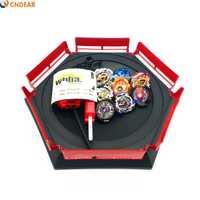 Alta calidad 8 piezas beybladeings explosión juguetes Arena Set venta Bayblades de fusión metálica Dios Spinning Top hoja hojas juguete Arena003