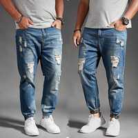 Tallas Hombre jeans slim tobillo de longitud pantalones 8xl 4xl 6xl 48 50 52 para hombre hiphop pantalones algodón tops hombres apenados jeans de marca
