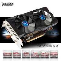 Yeston Radeon RX 550 GPU 4 GB GDDR5 128bit juego de computadora de escritorio PC Video soporte PCI-E 3,0