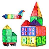 60 uds. Venta caliente conjunto de bloques de construcción de lámina magnética transparente con ruedas juguetes vendedores calientes para niños