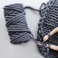 60 m DIY hilado de tejer a mano Bola de hilo de núcleo Natural hilo grueso lana de fieltro hilado de mecha máquina lavable manta suministros