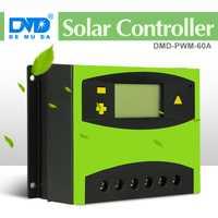 60 amp controlador de carga solar manual pwm 12 v 24 v auto solar de voltaje controlador de cargador de batería