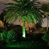 Al aire libre de Navidad luces de hadas vacaciones Proyector láser ducha jardín decoración del hogar sola impermeable verde