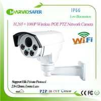 Nuevo 1080 P H.265 de la bala al aire libre IP POE impermeable PTZ inalámbrica cámara de red 2MP 2,8-12-12mm 4X Zoom motorizada de la lente onvif TF tarjeta
