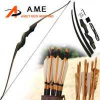 60 pulgadas American Hunting Bow Take Down arco recurvo mano derecha Color negro regalo flecha resto 30-60 BLS bambú miembro negro caza