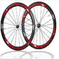 El más nuevo estilo bicicleta ruedas de carbono de 50mm TC50 de carbono bicicleta de carretera ruedas clincher V freno superficie 3 K 23mm con cojinete de cerámica centros