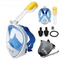 Buceo máscara de cara completa snorkel máscara bajo el agua Anti niebla snorkel máscara de buceo natación pesca submarina, buceo hombres