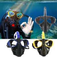 Máscara De Buceo De cara completa bajo el agua Buceo con conjunto Anti-niebla máscara De Buceo desmontable piscina De Buceo para Gopro Cámara
