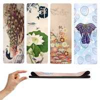Tapis chauds antidérapants à extrémité élevé de Yoga de suède doux 1.5 MM qui respecte l'environnement a imprimé le Yoga de voyage de Superlite de caoutchouc naturel et le Pilates Bikram