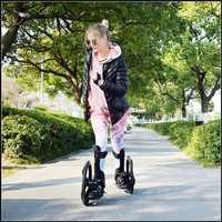 Deporte al aire libre calle goma antideslizante patín 16 pulgadas 2 grandes ruedas zapatos de patinaje en línea tamaño 34-43 cm freeline monopatín TF-02