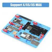 Soporte de PCB reparación accesorio para el iPhone X XS MAX placa madre plantación Estaño con BGA Reballing A11 eliminar negro pegamento