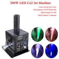 Etapa de equipo de Dj 12x3 w RGB 3In1 fácil Multi ángulo pequeño LED CO2 máquina de chorro de DMX Powercon DJ LED Co2 cañón para efecto de etapa