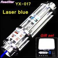 [ReadStar] RedStar YX-017 de alta potencia 450nm puntero láser azul pluma de quemadura de soldadura con tapa estrellada Cañón Láser pistola láser