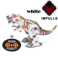 Control remoto de dinosaurio niños juguete luz fría música inteligente niños RC robot de mecánico dragón guerra juguetes FSWOB