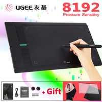 UGEE M708 8192 niveles 10x6 pulgadas Smart tableta gráfica de dibujo Digital Tablet dibujo Pad para escribir pintura Pro diseñador wacom