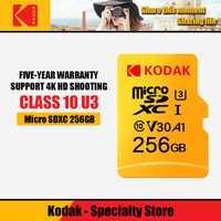 Tarjeta de memoria Kodak micro sd 256GB Class10 impermeable TF microSDXC U3 tarjeta para teléfonos inteligentes 256GB