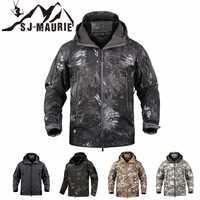 SJ-MAURIE de los hombres al aire libre táctico militar caza chaqueta impermeable de lana ropa de caza pesca senderismo chaqueta abrigo de invierno