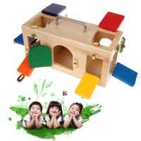 Montessori coloré serrure boîte enfants enfants éducatifs préscolaire formation jouets W15