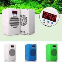 Enfriador de acuario de 110-240 V calentador o enfriador acondicionador de temperatura de agua para peces marinos tanque de camarón de arrecife de Coral debajo 20L 30L