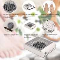 40 W nueva energía fuerte del colector del polvo del ventilador arte del colector del polvo manicura máquina aspiradora ventilador