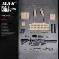 Colección 1/6 soldado figura accesorio táctico de ametralladora de pistola arma figura fuego modelo para 12