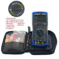HoldPeak HP-770C multímetro Digital LCR inductancia con prueba de frecuencia Manual medidor de capacitancia
