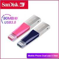 SanDisk USB Flash Drive iXPand OTG pen drive rosa azul SDIX40N usb-c 32 GB cle usb stick USB 3,0 MFi para iPhone iPad clave