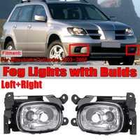 2 piezas frente del coche Luz de niebla de la lámpara de luz de conducción antiniebla Luz de niebla del coche para Mitsubishi Outlander 2003, 2004, 2005, 2006 con Bulds vuelta