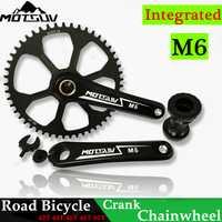 Juego de bicicleta Integrado Conjunto de cigüeñal rueda de cadena 42 t 44 t 46 t 48 t 50 t cadena ancha estrecha para GXP XX1 X9 XO X01 CNC