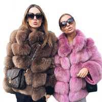 Elegante de mujer abrigo de invierno grueso cálido de lujo falso abrigo de piel 2018 de moda suave Abrigos Mujer piel chaqueta LJLS078