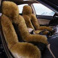 Alta calidad Lobo lana cubiertas de asiento de coche-estilo de coche cojines del asiento de coche cojín de auto asiento cojines para Honda Accord cívica CRV