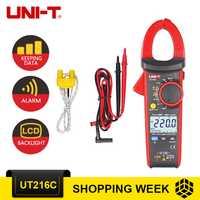 UNI-T UT216C/multímetros 600A Digital de verdadero valor eficaz (RMS) abrazadera metros Auto de la gama de w/frecuencia capacitancia temperatura NCV de