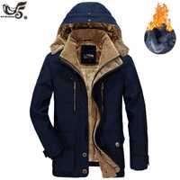 Marque veste d'hiver hommes taille 5XL 6XL chaud épais coupe-vent haute qualité polaire coton rembourré Parkas militaire pardessus vêtements