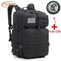 YUETOR al aire libre militar Molle mochila impermeable 40L Paquete de asalto de gran capacidad táctica mochilas para senderismo Camping caza
