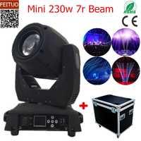 8 piezas + caso de vuelo 7r haz cabeza móvil Mini 230 w lámpara Gobo los efectos de luz Sharpy haz 230 haz 7r luces de escenario