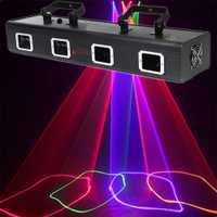 3D disco luces láser partido escáner bar colorido profesional DMX etapa de iluminación del club equipo de música dj luz de la etapa