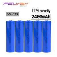 ¡FELYBY 100% genuino! Preferencial 20 piezas 2400 mAh 3,7 v 18650 batería de litio batería recargable con cargador USB