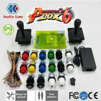 2 jugador DIY Arcade Pandora caja 6 1300 en 1 hogar tablero de juego y American joystick HAPP estilo Push button para Arcade máquina