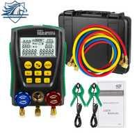 DY517A colector Digital de Refrigerantion probador de presión de vacío HVAC 2-válvula Kit de herramienta