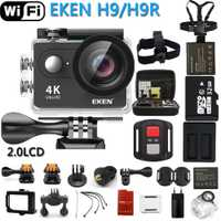 Original EKEN Cámara de Acción eken H9R/H9 Ultra HD 4 K WiFi Control remoto deportes cámara de vídeo DV DVR impermeable go pro Cámara