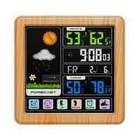 Reloj de alarma reloj Digital LED ABS táctil pantalla inalámbrica tiempo de temperatura humedad medidor Multi-idioma función