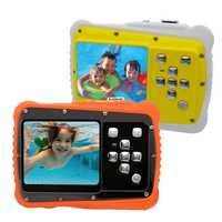 HD pantalla LCD Mini niños de dibujos animados de la Cámara de regalo de los niños bajo el agua foto Super resistente al agua Anti Shock cámara Digital para la natación