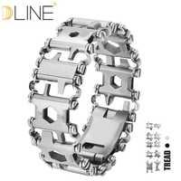 Dline banda de rodadura usable 29 en 1 Multi-función correa de pulsera Multi-función destornillador exterior emergencia Kit Multi herramienta