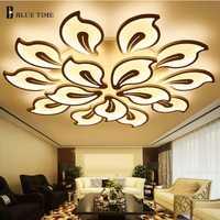 Lumières de plafond moderne à LEDs acryliques blanches pour le salon chambre LED Lustres grand plafonnier fixations de luminaire à LED AC85-260V