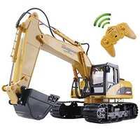 Huina RC pelle 15CH 2.4G télécommande camion pelle sur chenilles modèle électronique ingénierie camion jouets pour enfants
