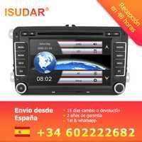 Isudar coche reproductor Multimedia automotivo GPS Autoradio 2 Din para Skoda/Octavia/Fabia/rápido/Yeti/ excelente/VW/asiento de coche reproductor de dvd