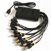 Nueva 8CH CCTV tarjeta DVR USB para el ordenador portátil, 8 canales Tarjeta de captura de vídeo para CCTV Cámara Sistema de Vigilancia soporta 64 bits Win 10