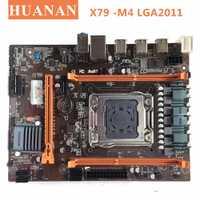 HUANAN X79-M4 LGA 2011 DDR3 PC de escritorio placas base de ordenador placas base adecuado para servidor ECC REG RAM