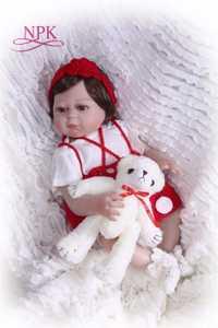 19 pulgadas 48 CM vestido rojo suave silicona bebes Reborn Baby Doll Touch Real moda niños regalos Juguetes muñeca de bebé nuevo diseño